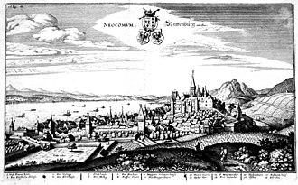 Neuchâtel - Neuchâtel in 1645