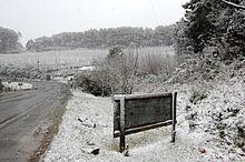 Neve em São Joaquim, Santa Catarina (2010).