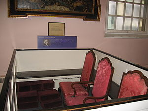George Clinton (vice president) - Clinton's pew, St. Paul's Chapel NYC