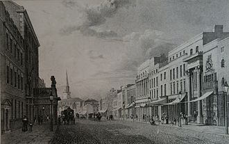 New Street, Birmingham - New Street circa 1825, by Henry Harris. Also looking west.
