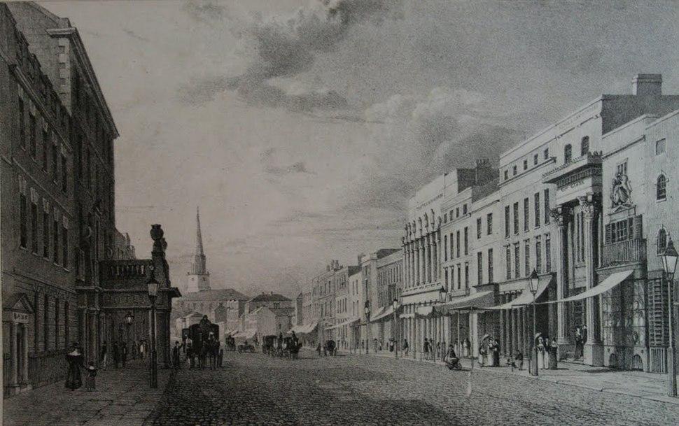 New Street Birmingham circa 1825 by Henry Harris