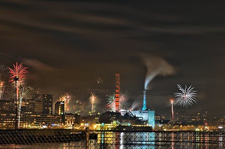 Gothenburg fireworks on New Year's Eve, 2008. New Years Eve 2008-2009 -1.jpg