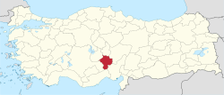 Niğde in Turkey.svg