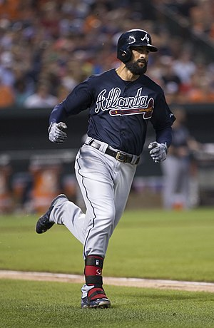 Nick Markakis - Markakis with the Atlanta Braves in 2015
