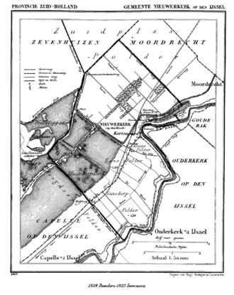 Nieuwerkerk aan den IJssel - Nieuwerkerk aan den IJssel in 1867.