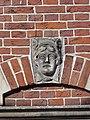 Nijmegen - Hoofd gemaakt door Egidius Everaerts op de gevel van Huis Heyendaal 10.jpg