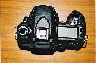 Nikon D80 - Image: Nikon D80 body topview 030