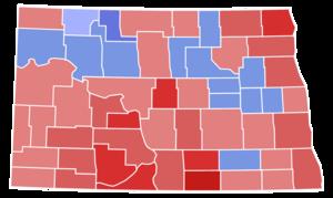 United States Senate election in North Dakota, 1958 - Image: North Dakota Senate Election Results by County, 1958