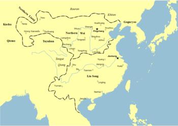 460년, 북위와 유송