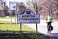 Norton Fitzwarren welcomes careful cyclists.JPG