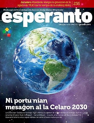 Esperanto (magazine) - Cover of the November 2015 issue