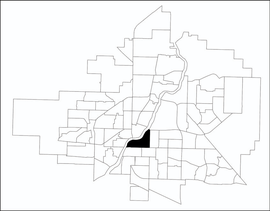Nutana location map