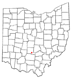 Location of Logan Elm Village, Ohio