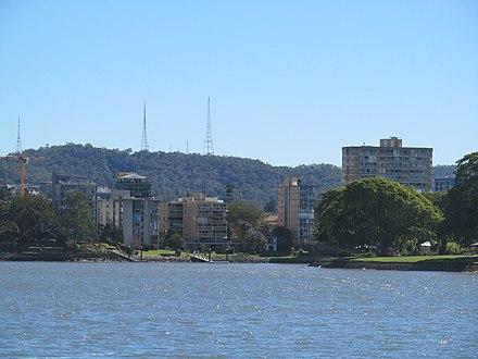 Television transmission towers atop Mount Coot-tha OIC river view of toowong and mt coot-tha.jpg