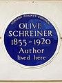 OLIVE SCHREINER 1855-1920 Author lived here.jpg