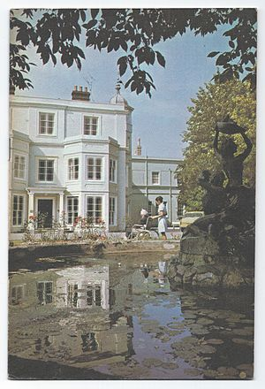 Old Manor Hospital, Salisbury - Image: OMH entrance 1974 scan