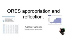 "PDF of ""ORES appropriation and reflection"" with first page depicted"