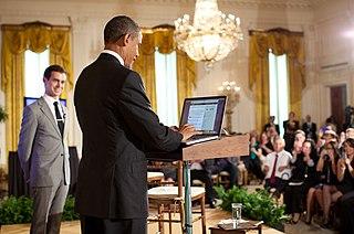 Social media use by Barack Obama