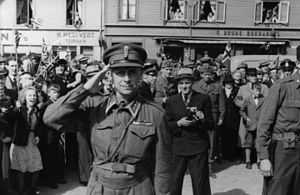 Hans Reidar Holtermann - Holtermann in Trondheim during the 1945 Constitution Day celebrations