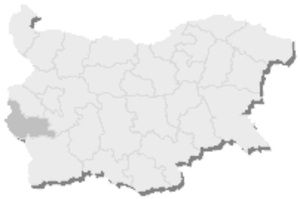 10th MMC – Kyustendil -  Map of Bulgaria, 10th MMC – Kyustendil is highlighted