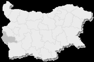 10th MMC – Kyustendil -  Map of Bulgaria, 10th MMC – Kyustendil is highlighted