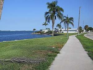 Ocean Breeze, Florida - The riverside portion of the town from the north