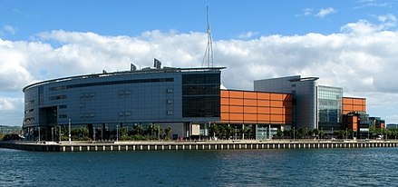 Odyssey Arena in Belfast, venue in 2011. Odyssey Arena, Belfast - geograph.org.uk - 860741 (cropped).jpg