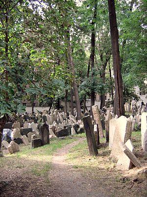 English: Old Jewish Cemetery. Josefov, Prague.