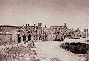 Oldenburg–Bremen railway - Old Oldenburg station 1885