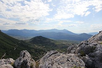 Province of Nuoro - View of Supramonte mountain range located in the province.