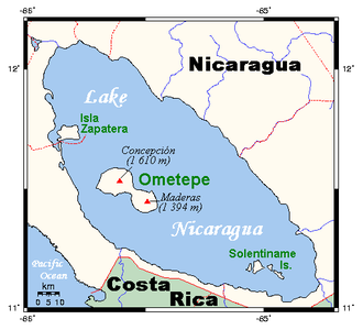 Water resources management in Nicaragua - Image: Ometepemap