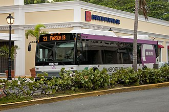 Puerto Rico Metropolitan Bus Authority - The Puerto Rico Metropolitan Bus Authority (AMA) provides local and regional bus service in the San Juan metropolitan area.