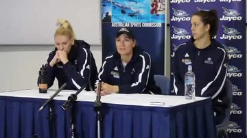 File:Opals press conference at AIS with Lauren Jackson, Carrie Graf and Jenna O'Hea (part 1).ogv