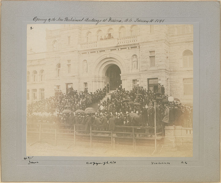 File:Opening of new Parliament buildings at Victoria, B C, February 10th 1898 2 (HS85-10-9752).jpg
