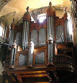 Boisseau pipe organ (built 1974) of the cathed...
