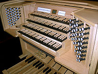 The 2006 Rembrandt Digital organ is an example of a large pipeless organ that could be used in a church.