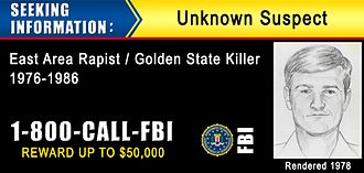Golden State Killer - June 2016 nationwide billboard to locate the offender