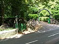 Ornate arched gate and Offa's Dyke footpath gate - geograph.org.uk - 555081.jpg