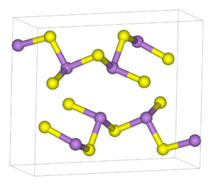 Chalcogenide - As2S3 is a crosslinked polymer where the As and S centers obey the octet rule.