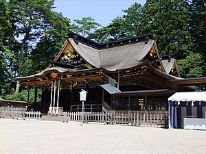 Ōsaki Hachimangū - Haiden of Ōsaki Hachimangū