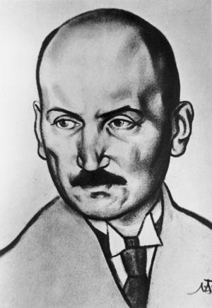 Oskar Luts - Portrait by Nikolai Triik (1928)