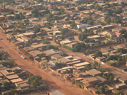 Aerial view of Ouagadougou