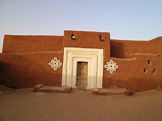 Trans-Saharan trade - A building in Oualata, southeast Mauritania