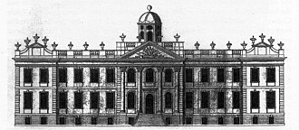Egerton family - North elevation of Oulton Hall c. 1735
