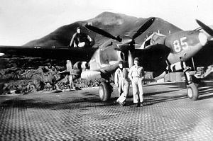 Alexai Point Army Airfield - P-38 on the Marsden Matting