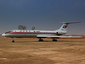 P814 AIR KORYO TU134 AT SONDOK AIRFIELD HAMHUNG DPR KOREA OCT 2012 (8148679526).jpg