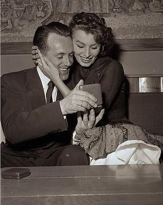Hallgeir Brenden - Brenden with Sophia Loren at the 1956 Winter Olympics