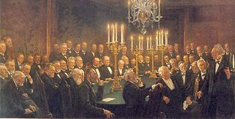 Royal Danish Academy of Sciences and Letters - Krøyer's painting in the Old Meeting Hall.