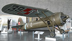 PZL P.11 - P.11 as on display in the Polish Aviation Museum