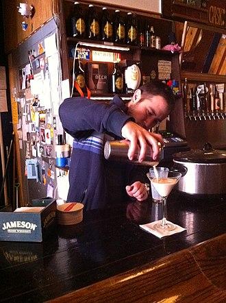 Cocktail - Image: Pacific Standard owner preparing Santorum cocktail drink 05
